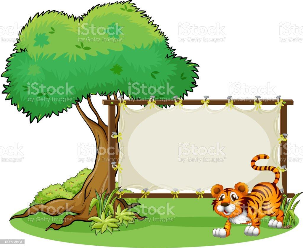 Gerahmte Leer Banner Mit Tiger Stock Vektor Art und mehr Bilder von ...