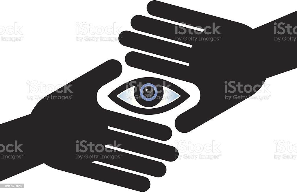 Framed eye royalty-free stock vector art