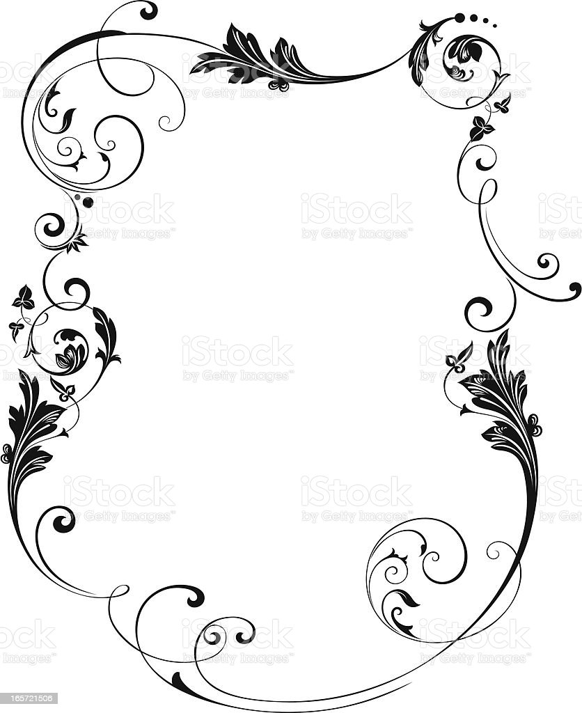 Framed Scroll Border vector art illustration