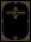 Retro vintage typographic design frame.