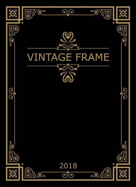 frame/frame.eps - art nouveau stock illustrations, clip art, cartoons, & icons