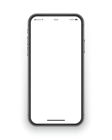 Frameless Smartphone Screen Vector Mockup