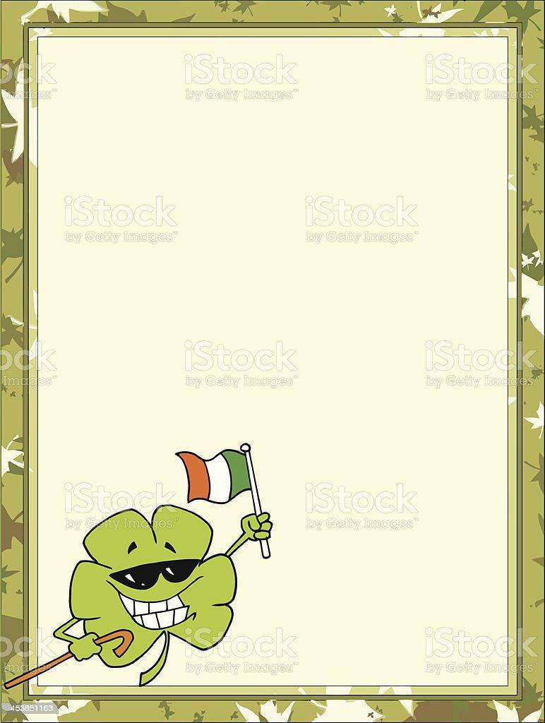 Ilustración de Marcos Y Fronteras Con Saint Patricks Day Alegre En ...