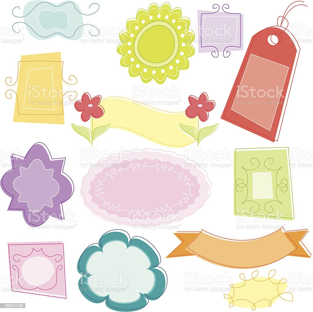 Frames, Borders and Gift Tags royalty-free stock vector art