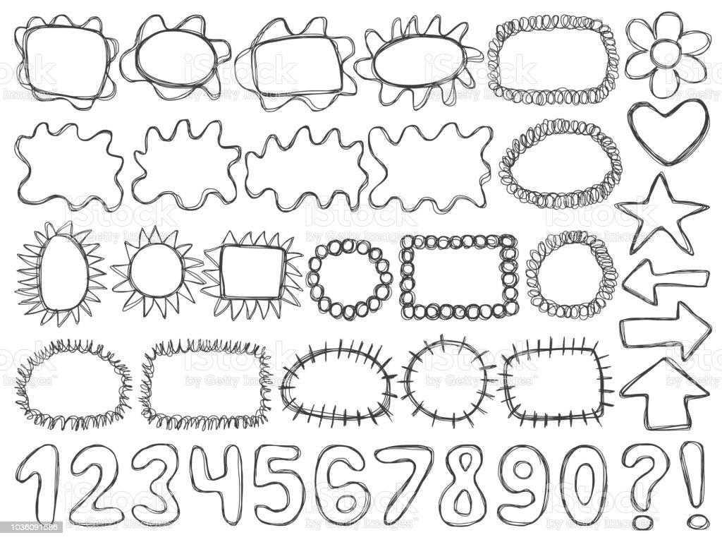 Frames Kids Doodle Vector Set Stock Vector Art & More Images of Book ...
