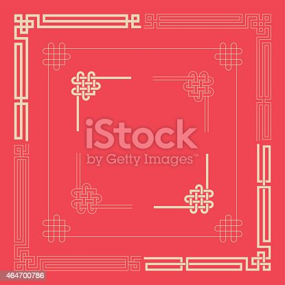 Some frames,lines and patterns of chinese style.