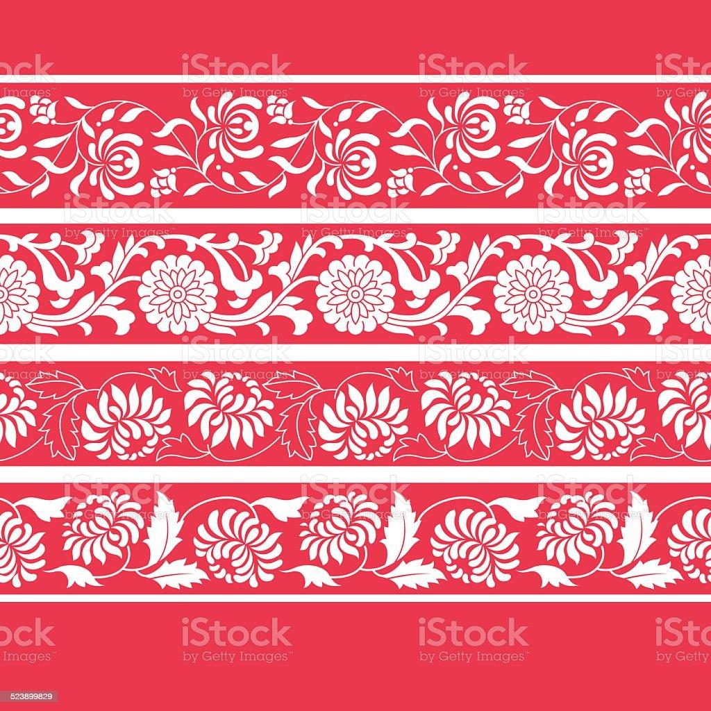 Ramek na sposób chiński (Złocień) - Grafika wektorowa royalty-free (Abstrakcja)