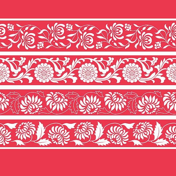 ramek na sposób chiński (złocień) - new year stock illustrations