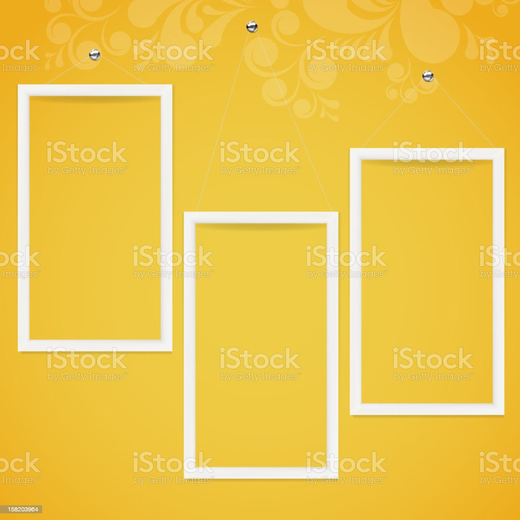 Frames on a wall royalty-free frames on a wall stock vector art & more images of abstract
