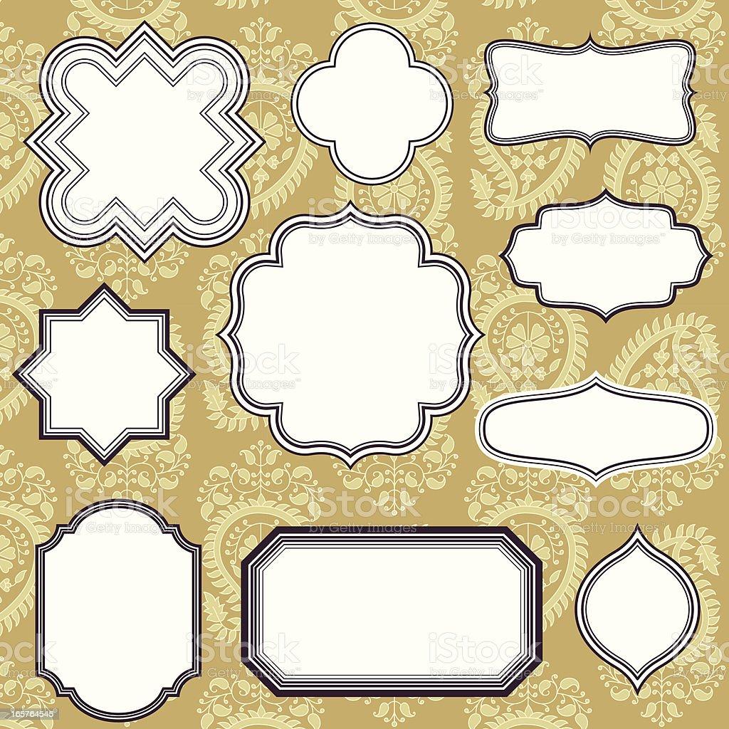 Frames on Seamless Background vector art illustration