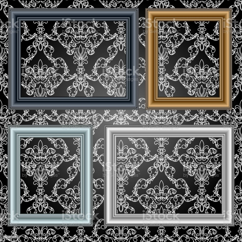 Frames on the wall. royalty-free stock vector art