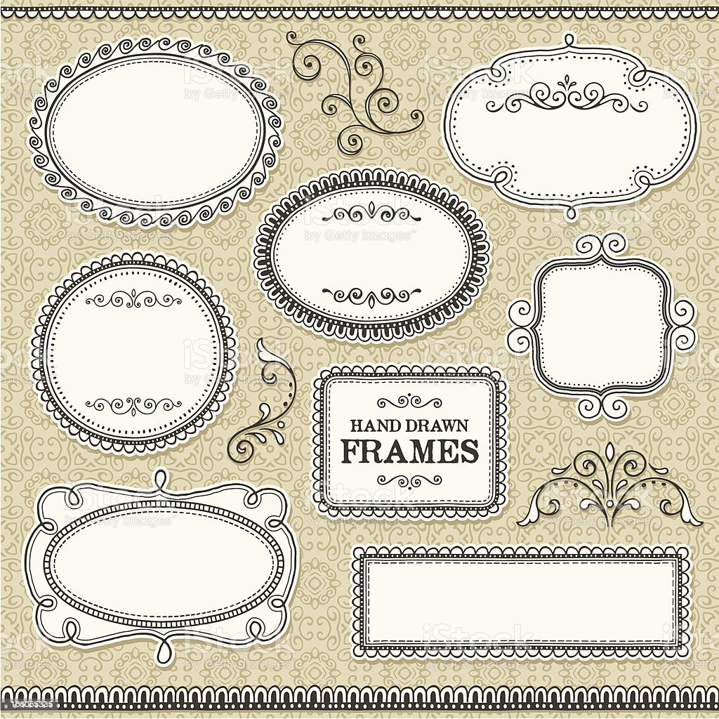 Frames Sketched royalty-free stock vector art