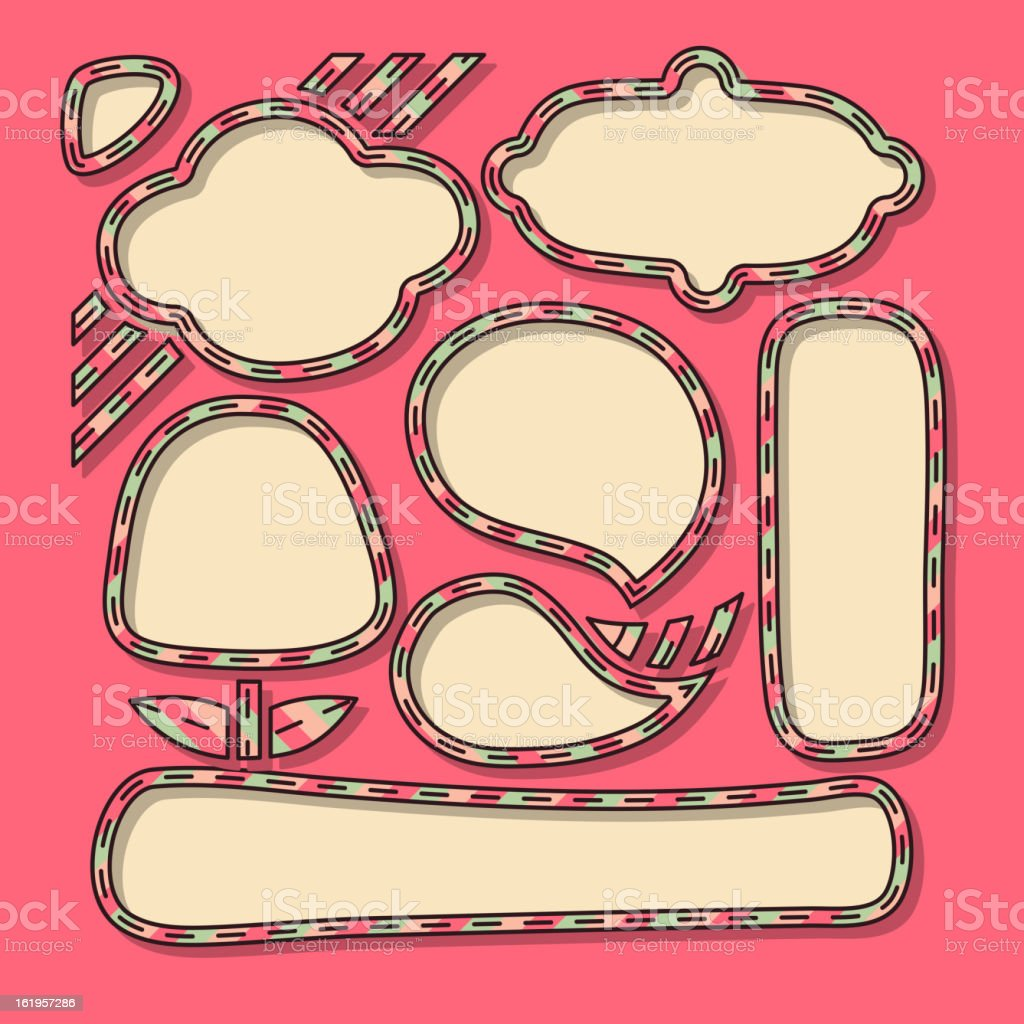 Frames royalty-free stock vector art