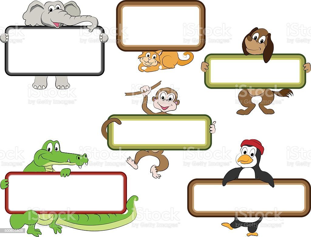 Frames With Cartoon Animals Stock Vector Art & More Images of 2015 ...
