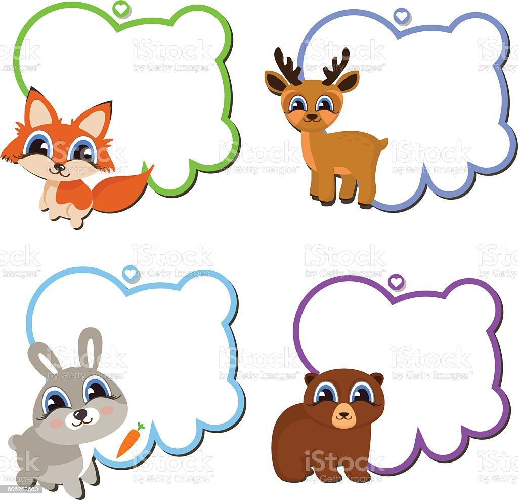Frames With Cartoon Animals Stock Vector Art & More Images of Animal ...