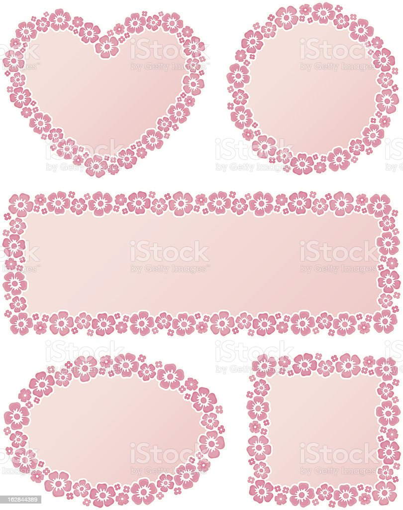 Frames with flowers royalty-free frames with flowers stock vector art & more images of backgrounds