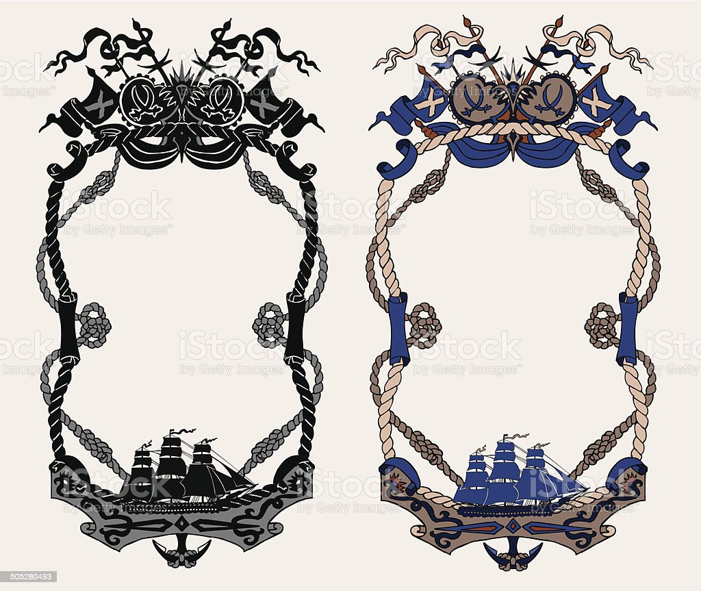 Frames with ships stock vector art more images of adventure frames with ships royalty free frames with ships stock vector art amp more images jeuxipadfo Image collections