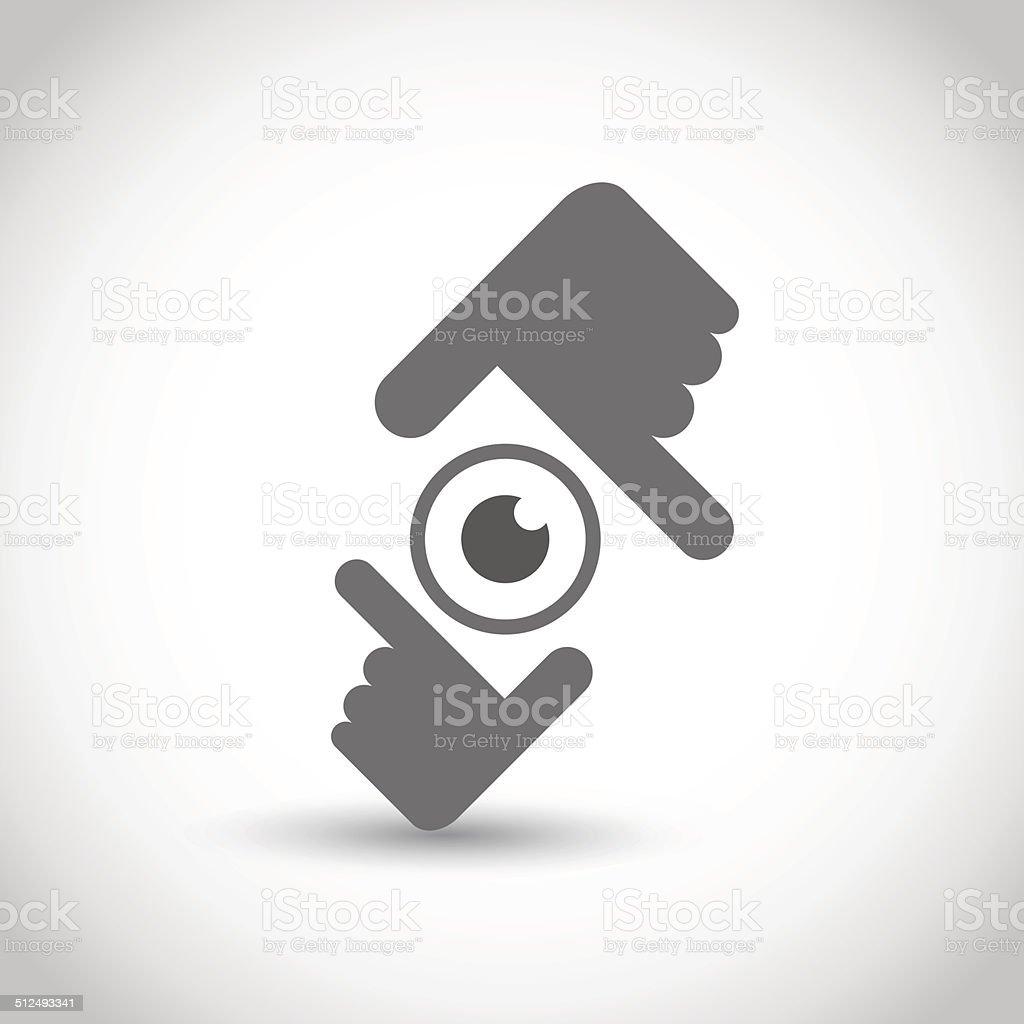 Hände Die Rahmung Symbol Stock Vektor Art und mehr Bilder von ...