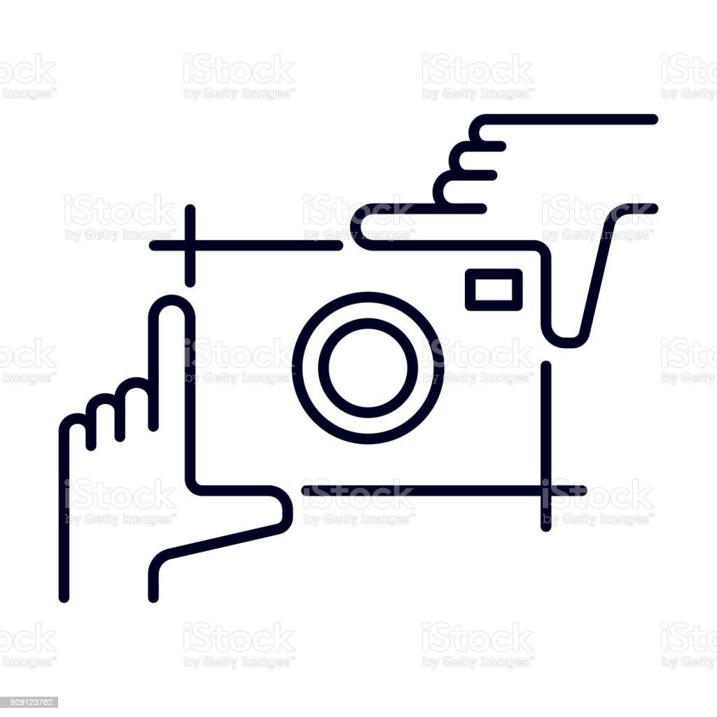 Rahmung Hände Vorlage Mit Rahmen Für Fotodesign Rahmen Aus Finger ...