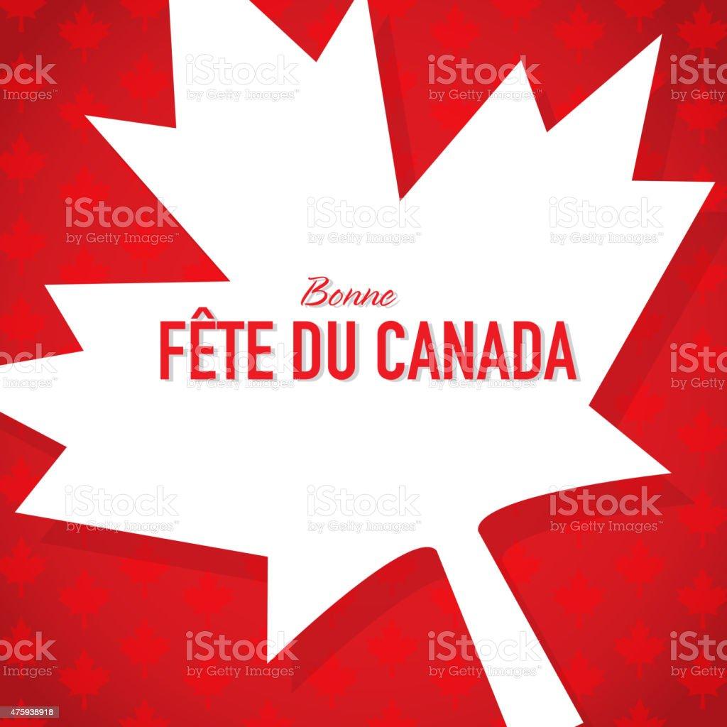 Français París Bonne Fete Du Canada De Plantilla De Diseño De ...