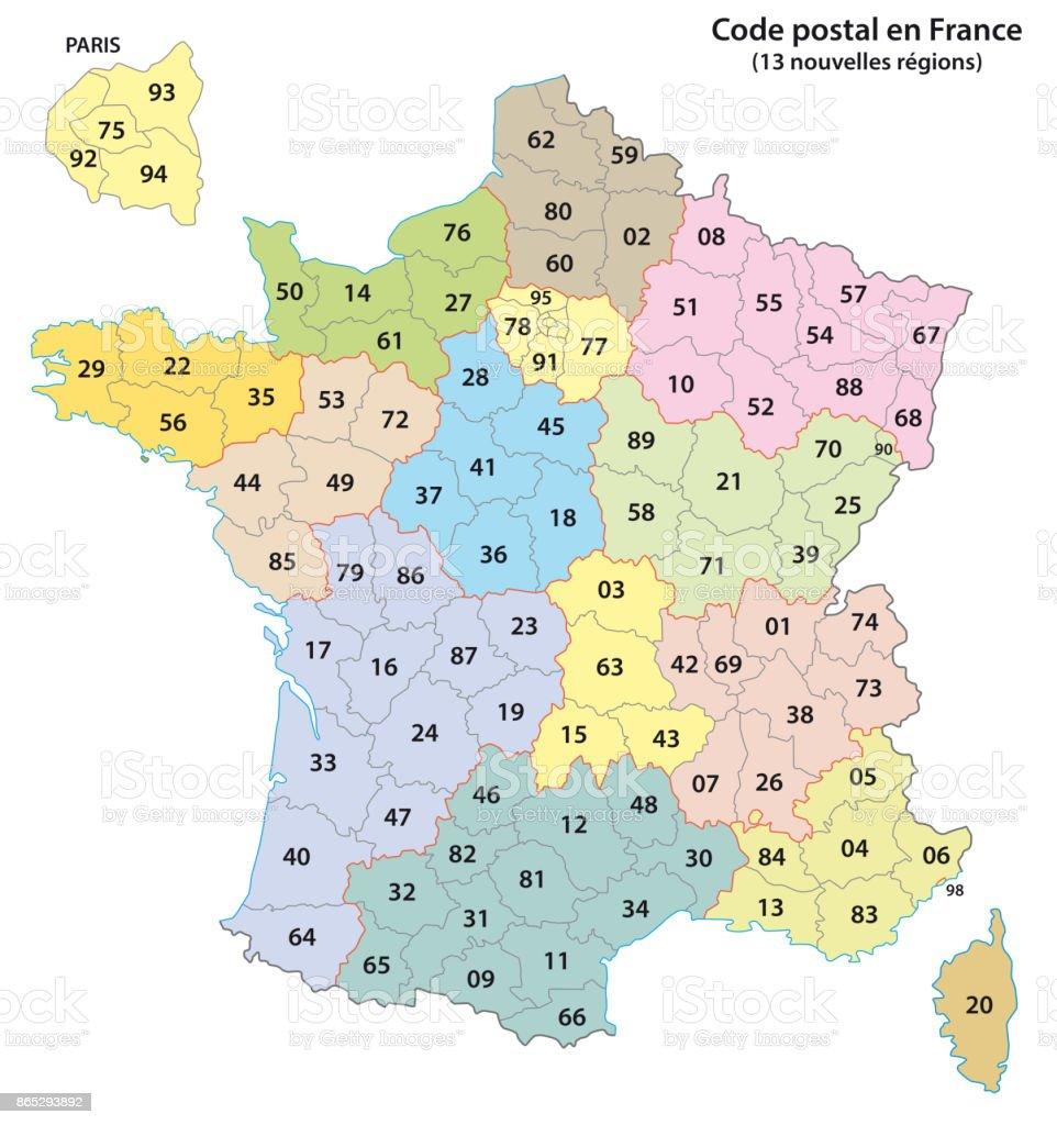 ilustraci n de c digos postales de 2 d gitos de francia