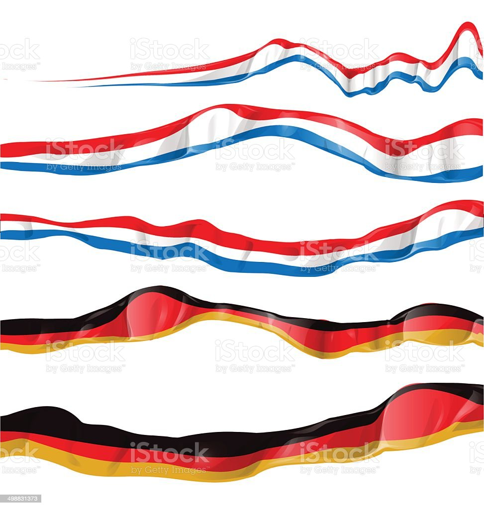 france and germany flag set vector art illustration