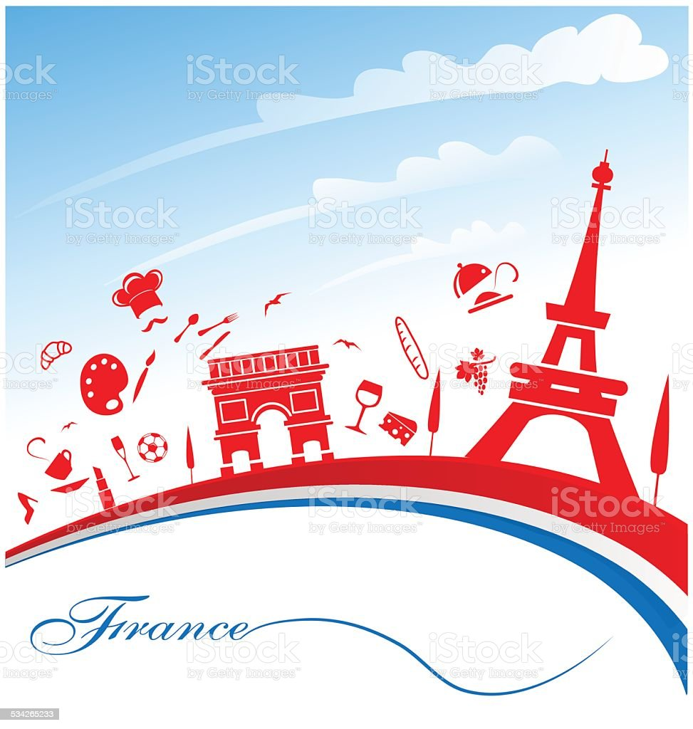 france background vector art illustration