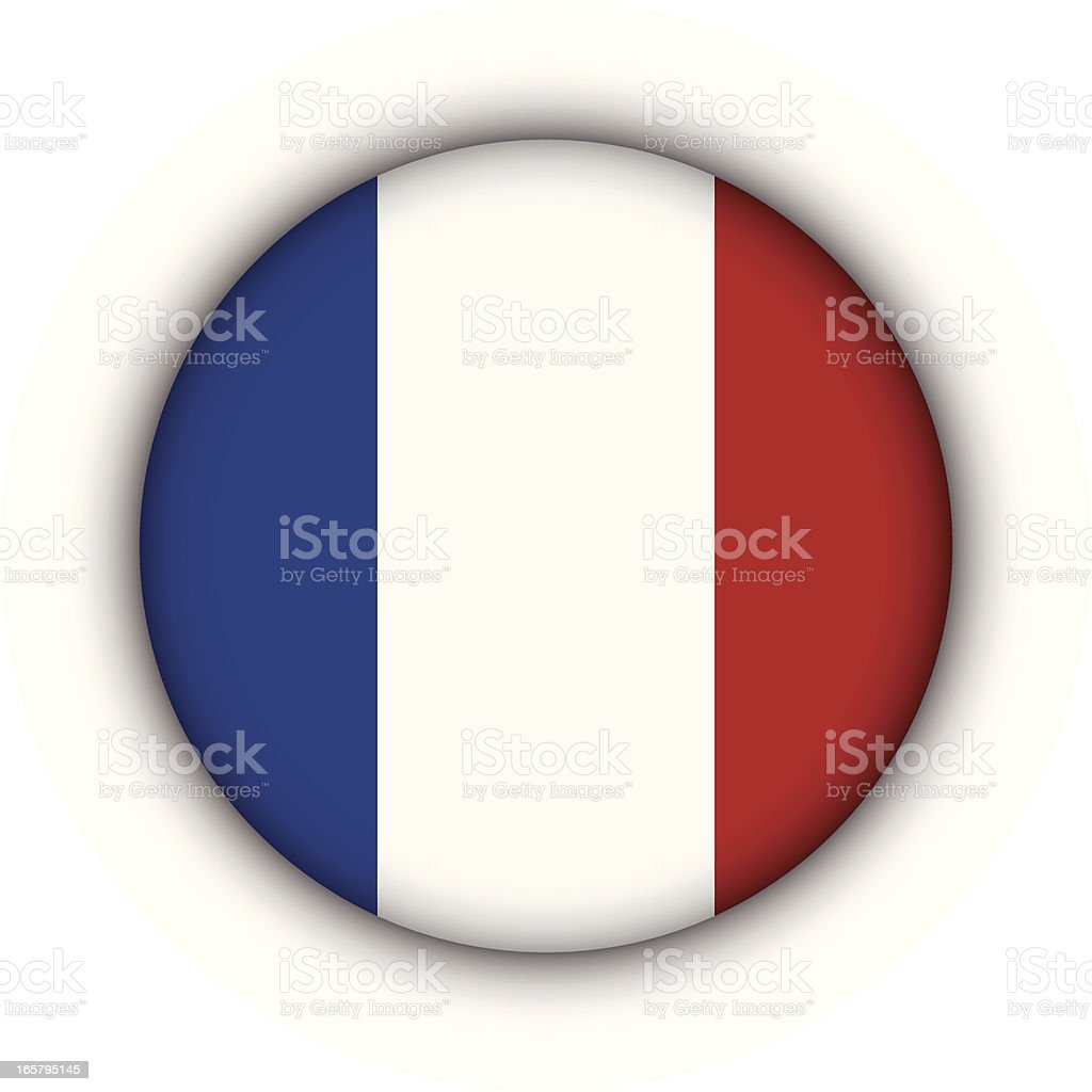 France Badge vector art illustration