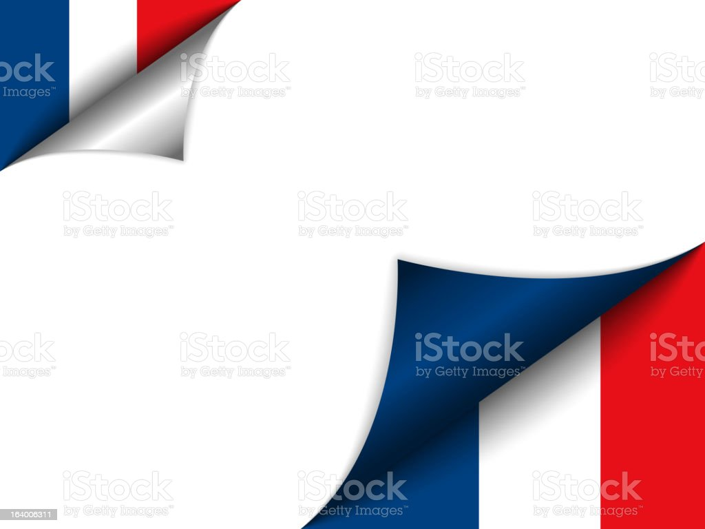 France Country Flag Turning Page royalty-free france country flag turning page stock vector art & more images of angle