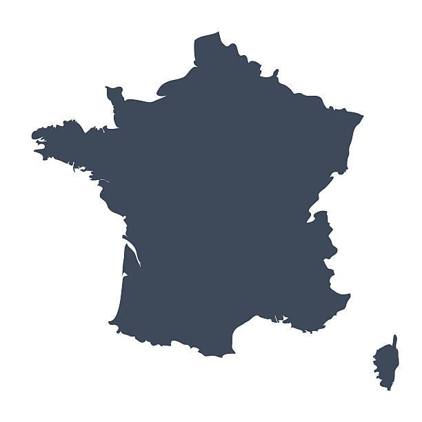francja kraju mapa - francja stock illustrations