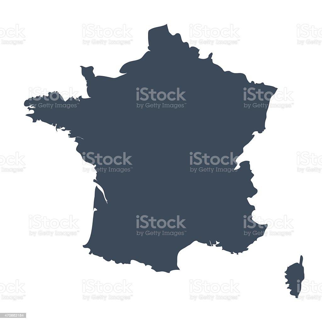 Frankreich Land Karte – Vektorgrafik