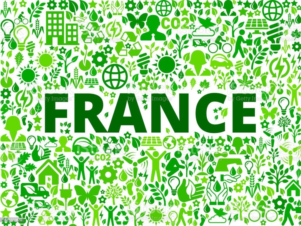 France Environmental Conservation Vector Icon Pattern vector art illustration