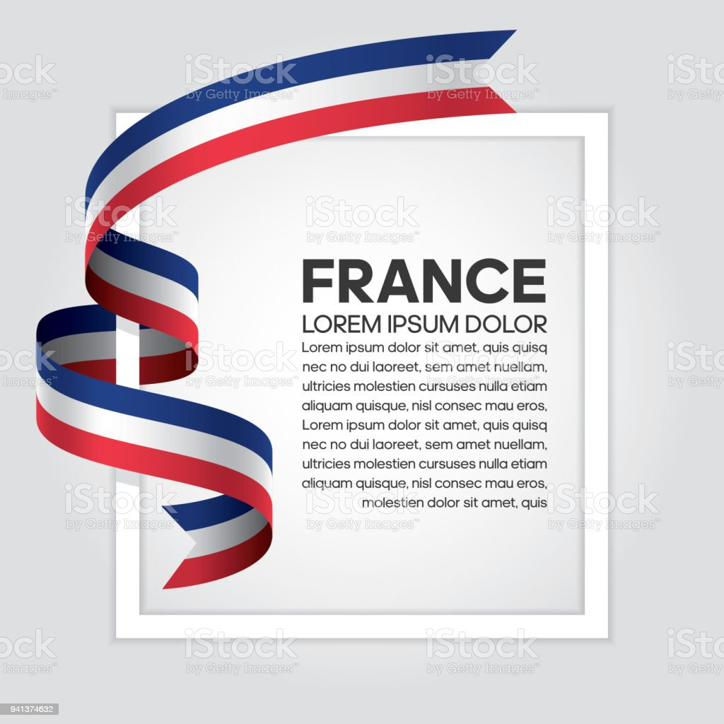 France flag background vector art illustration