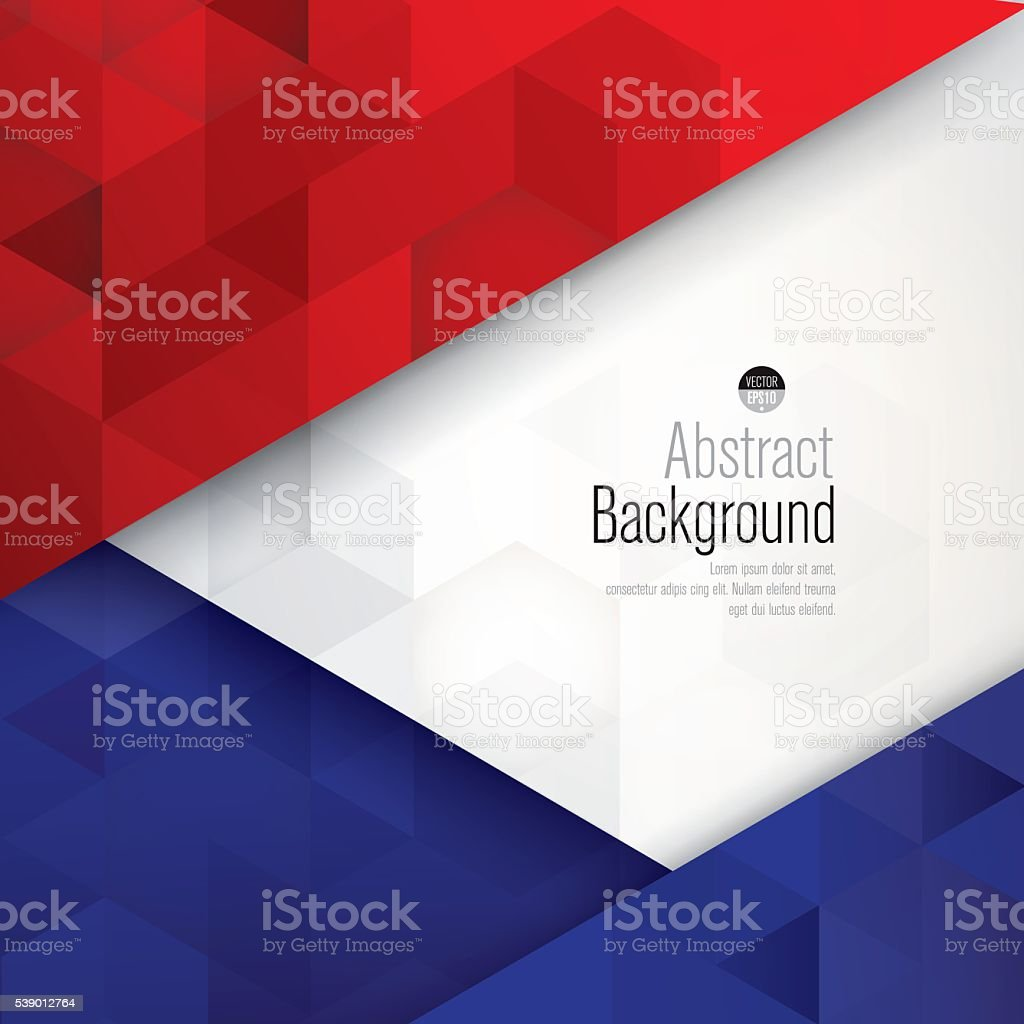 France flag colors abstract background. vector art illustration