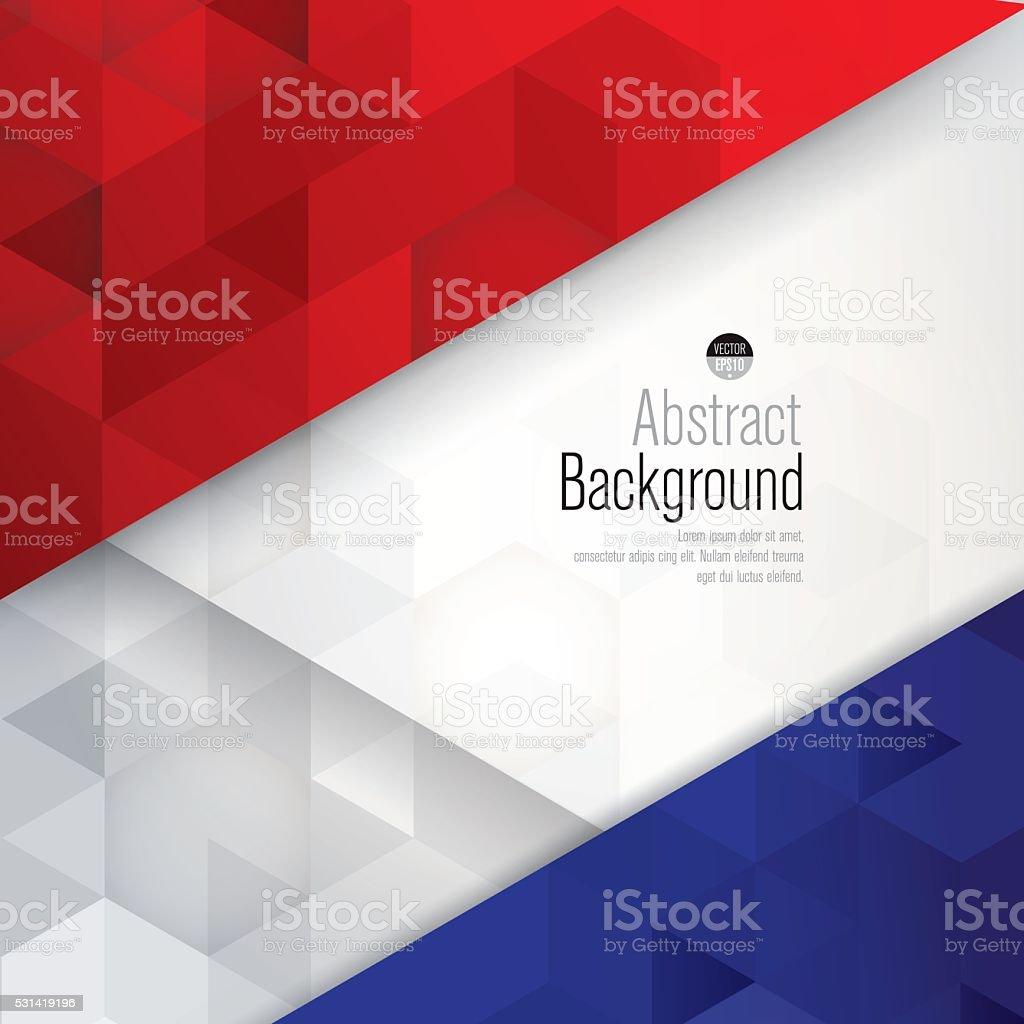 France flag colors background. vector art illustration