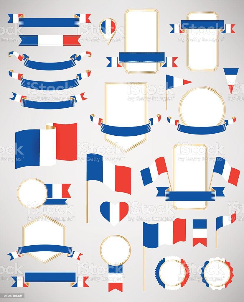 Ilustraci n de francia bandera elementos de la decoraci n y m s banco de im genes de autoridad - Elementos de decoracion ...