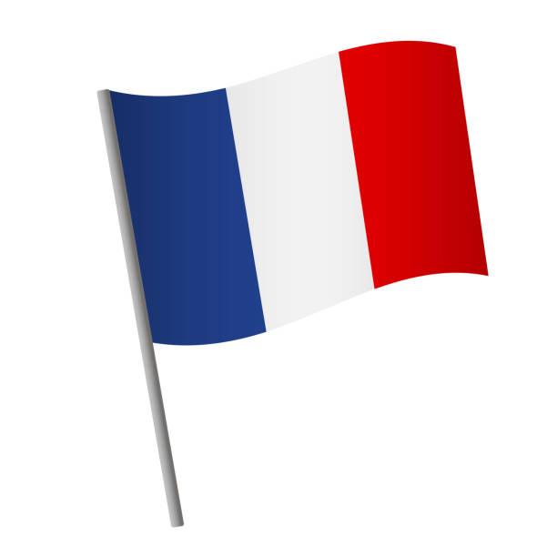 ilustraciones, imágenes clip art, dibujos animados e iconos de stock de icono de la bandera de francia. - bandera francesa