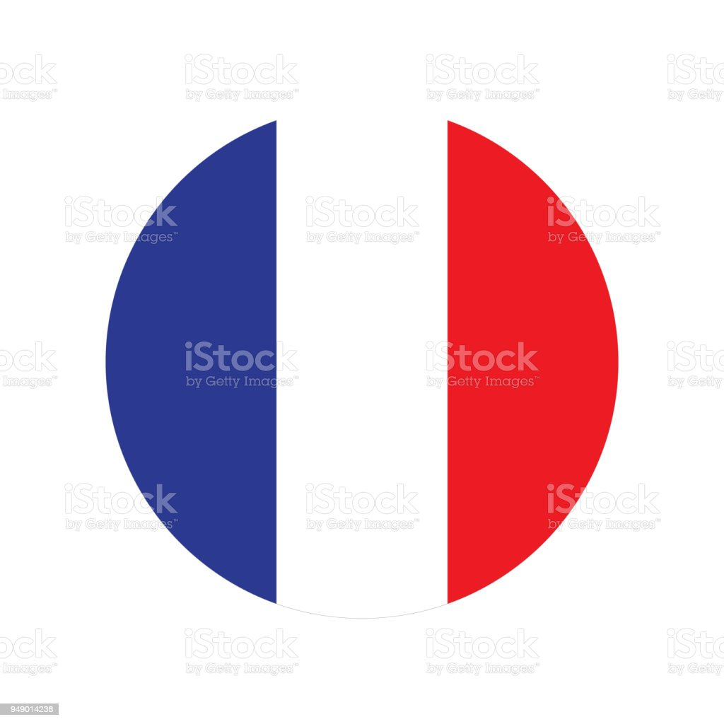 France flag illustration vector art illustration