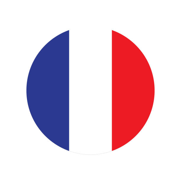 ilustraciones, imágenes clip art, dibujos animados e iconos de stock de francia bandera medio - bandera francesa
