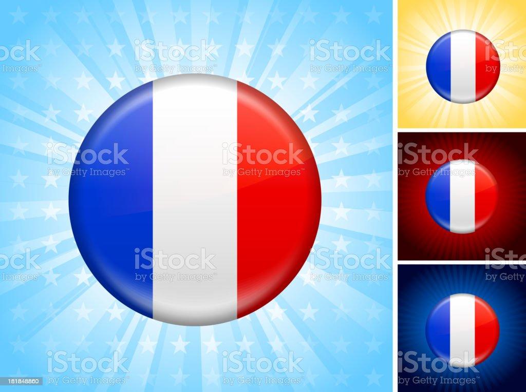 France Flag royalty free vector art Button Set royalty-free stock vector art