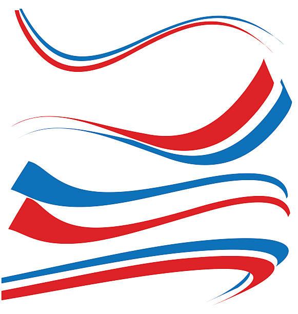 ilustraciones, imágenes clip art, dibujos animados e iconos de stock de francia bandera conjunto aislado en blanco - bandera francesa