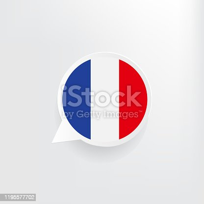 istock France Flag Speech Bubble 1195577702