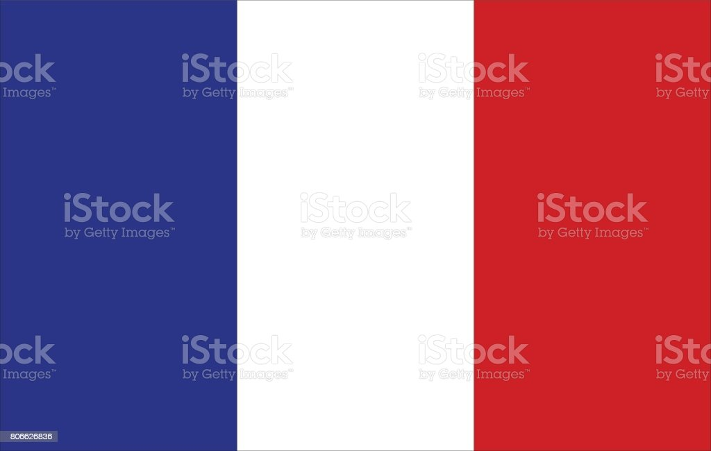 France flag vector art illustration