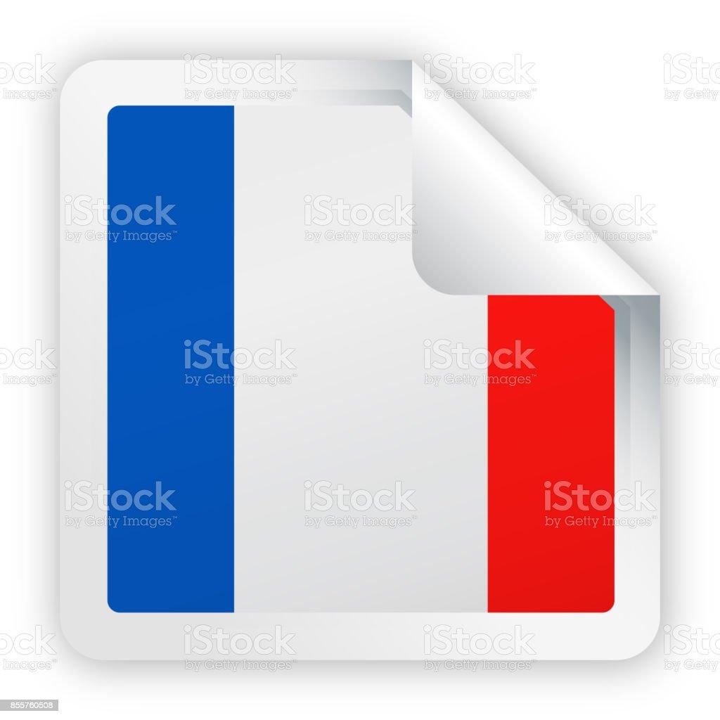 フランス国旗ベクトル広場コーナー紙のアイコン お祝いのベクター