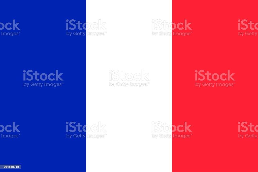 法國旗子傳染媒介 - 免版稅世界地圖圖庫向量圖形