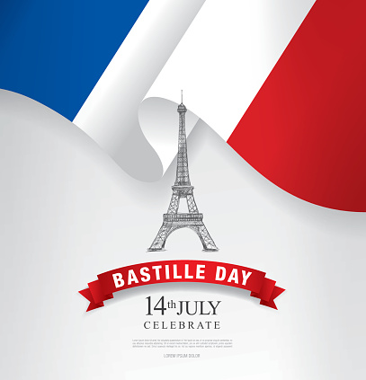 France. Fourteenth of July. Happy Bastille Day.