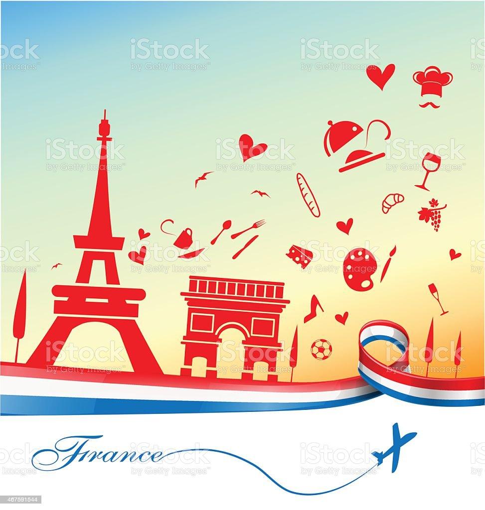 フランスの背景 のイラスト素材 467591544 | istock