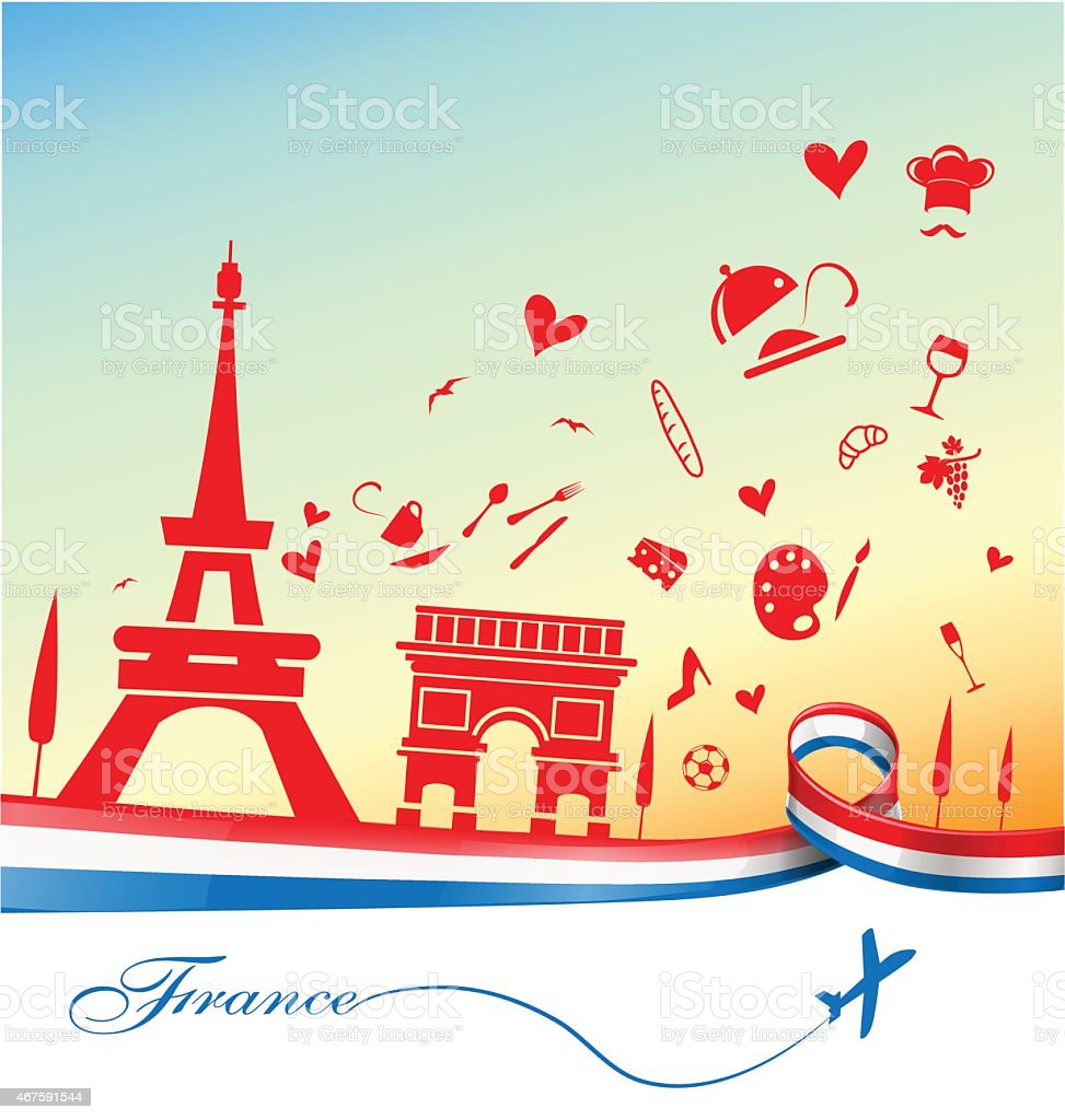 france holiday background vector art illustration