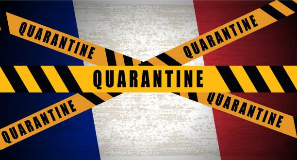 illustrations, cliparts, dessins animés et icônes de la france impose une quarantaine de pandémies - covid france