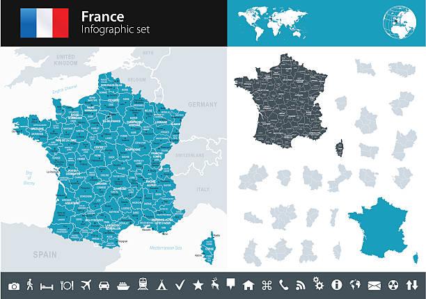 illustrations, cliparts, dessins animés et icônes de france-plan de l'infographie-illustration - bretagne